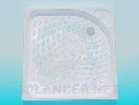 descarga gratuita de 3D modelado modelo Plato de ducha con textura