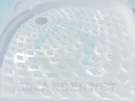 3d модель Поддон для душа с текстурой – превью