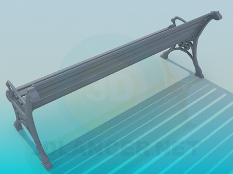 3d model Bench - preview
