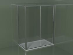 Box doccia angolare ZN + ZG 160 con porta scorrevole