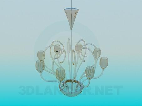 3d modeling Glass chandelier model free download