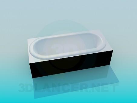 3d model Bath - preview