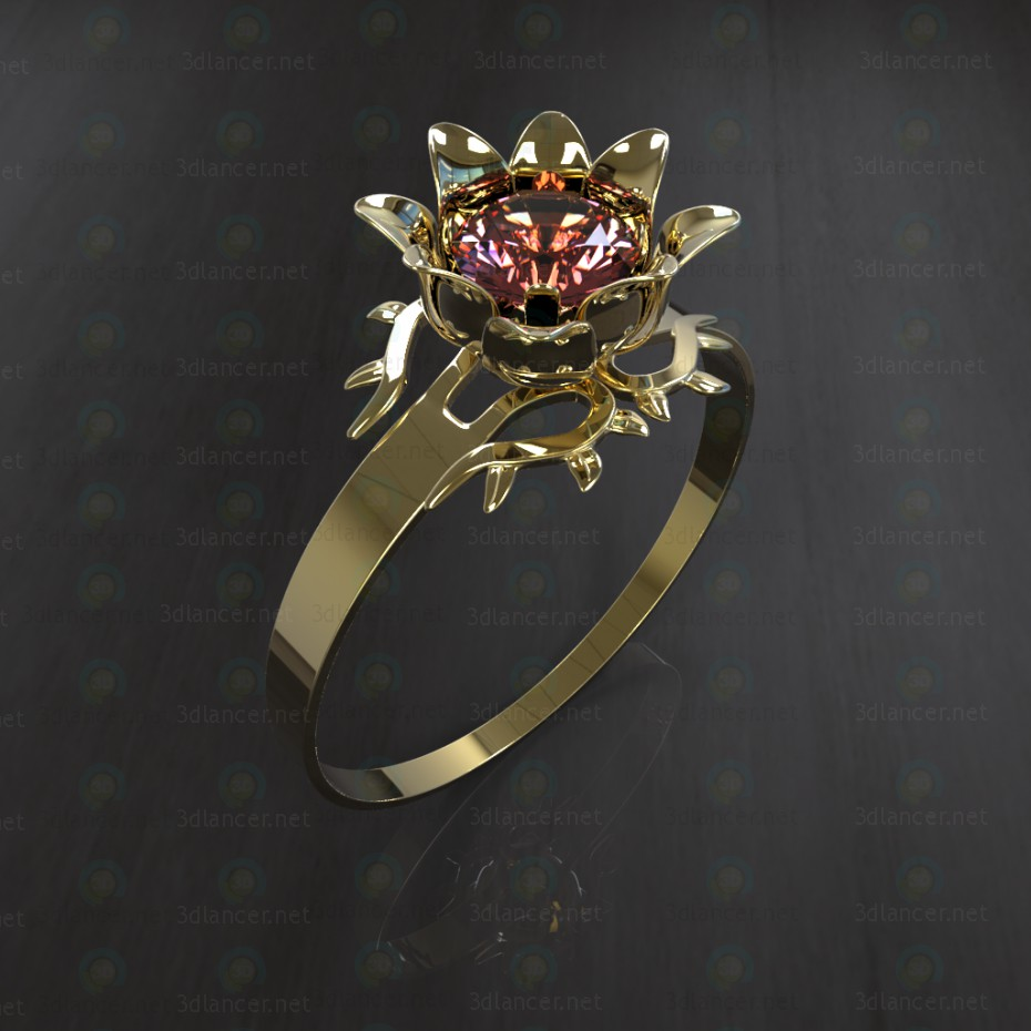 "3d model Ring ""The Scarlet Flower"" - preview"