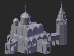 Suzdal. Catedral de la intercesión con un campanario.