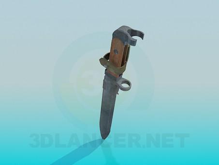 3d модель Штык-нож – превью