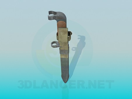 3d model Bayonet - preview