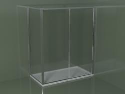 Corner shower cubicle ZN + ZG 170 with sliding door