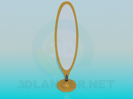 3d моделирование Напольное зеркало модель скачать бесплатно