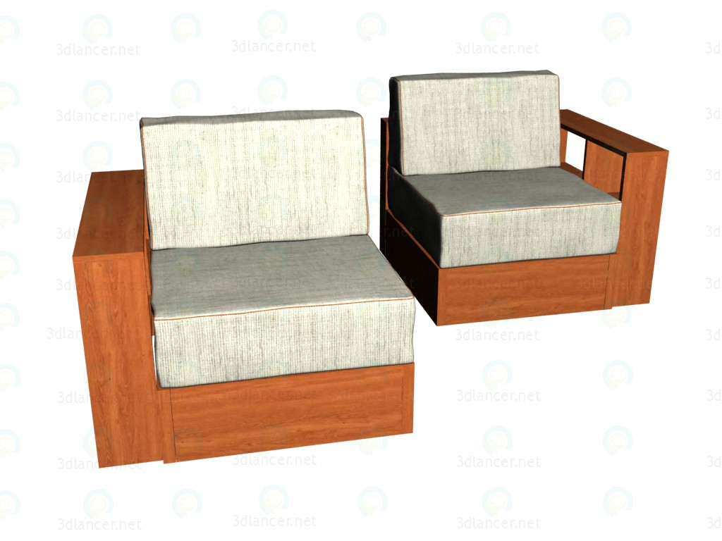 3d model Armchair post modern - preview