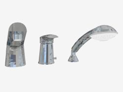 Mezclador de baño con tres orificios Jaguar Line (BDX 013M)