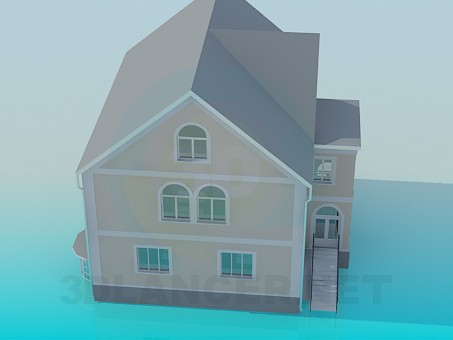 3d modeling Residential 2-Storey House model free download