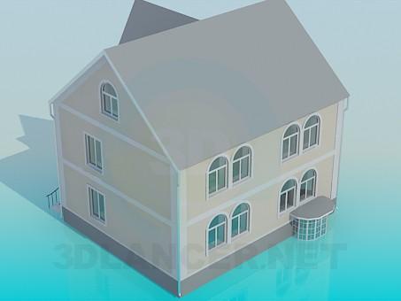 modelo 3D Casa de 2 plantas residencial - escuchar
