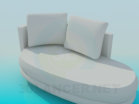 3d modeling Upholstered couch model free download