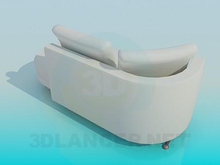 modelo 3D Sofá tapizado - escuchar