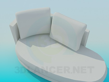 3d model Upholstered couch - preview