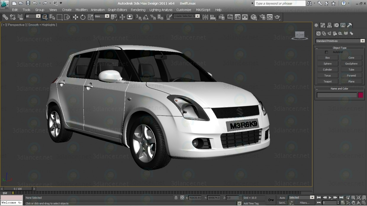 3d model Vehicle Swift Car, max(2011), - Free Download | 3dlancer net