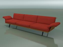 Module central Lounge 4404 (L 270 cm, effet teck)