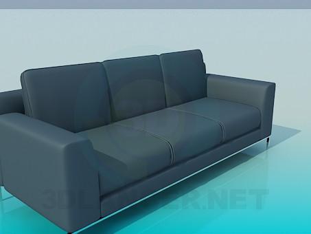 modelo 3D Sofá de estilo estricto - escuchar