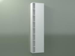 Wall cabinet with 1 right door (8CUCFCD01, Glacier White C01, L 48, P 24, H 192 cm)