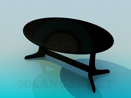 3d modeling Oval table model free download