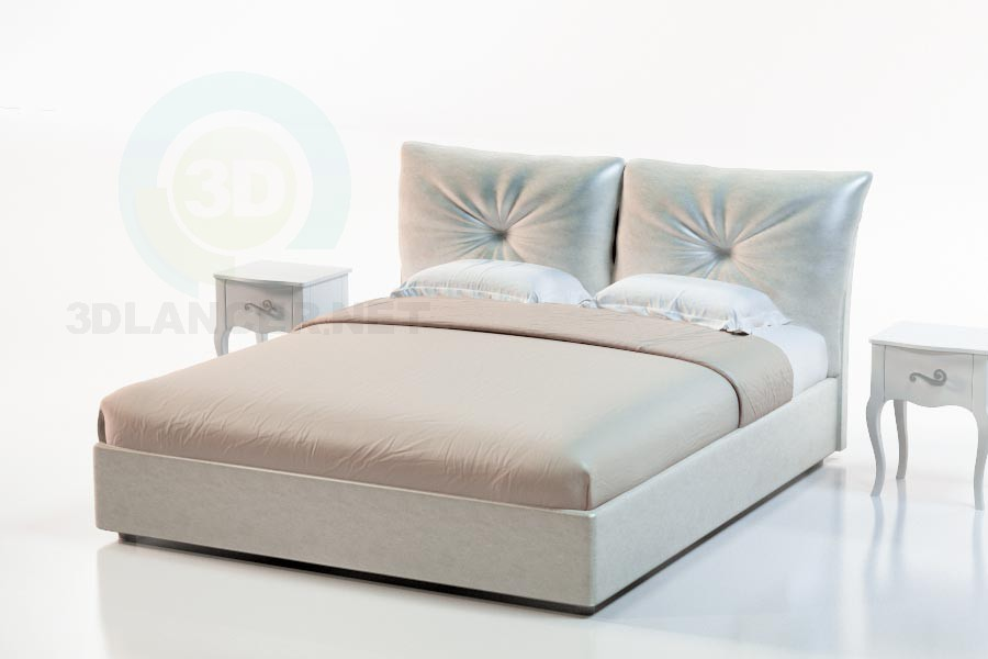 3d modeling Bed Accra model free download