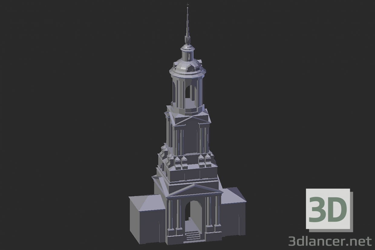 3d model Suzdal. Belfry of the Monastery of Rizopolozhensky - preview