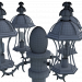 3d Street lamp model buy - render