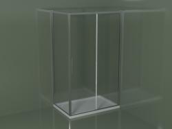 Sliding shower cubicle ZQ + ZF 120 for rectangular corner shower tray