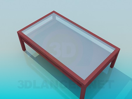 3d modeling Coffee table with the two-level tabletop model free download