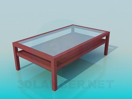 3d модель Журнальный столик с двухярусной столешницей – превью