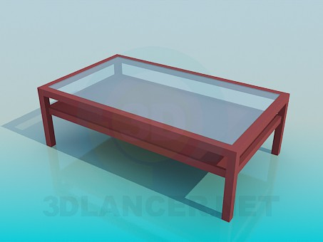 3d model Coffee table with the two-level tabletop - preview