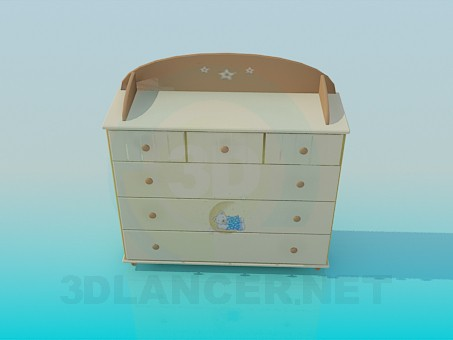 3d modeling Chest of drawers for children's room model free download