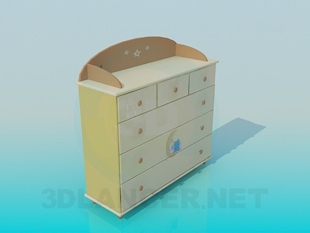 3d model Chest of drawers for children's room - preview