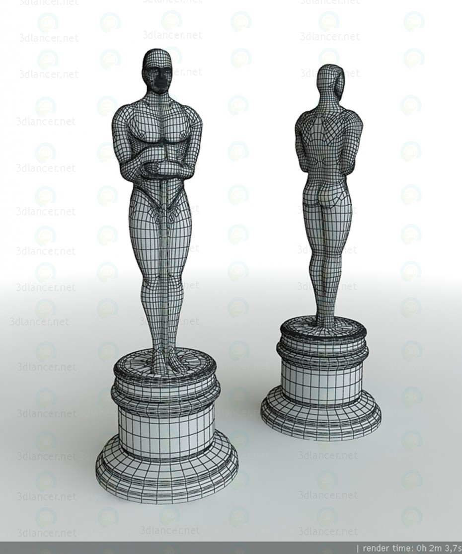 3d модель Статуэтка Оскар – превью