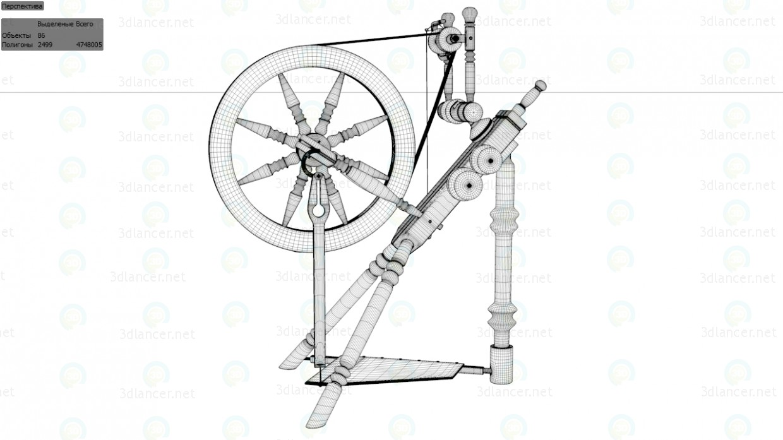 3d модель Прялка – превью