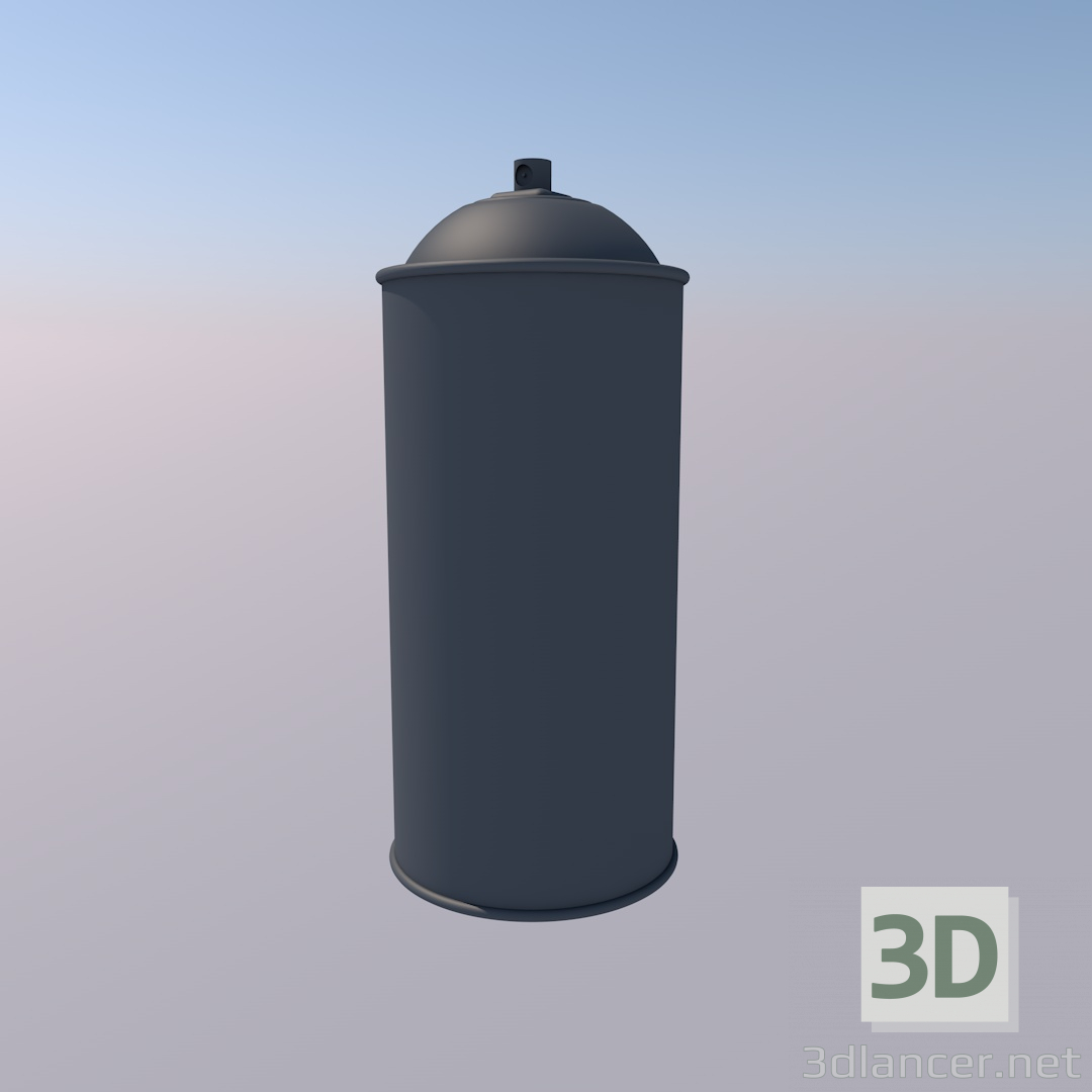 3d model Paint can - preview