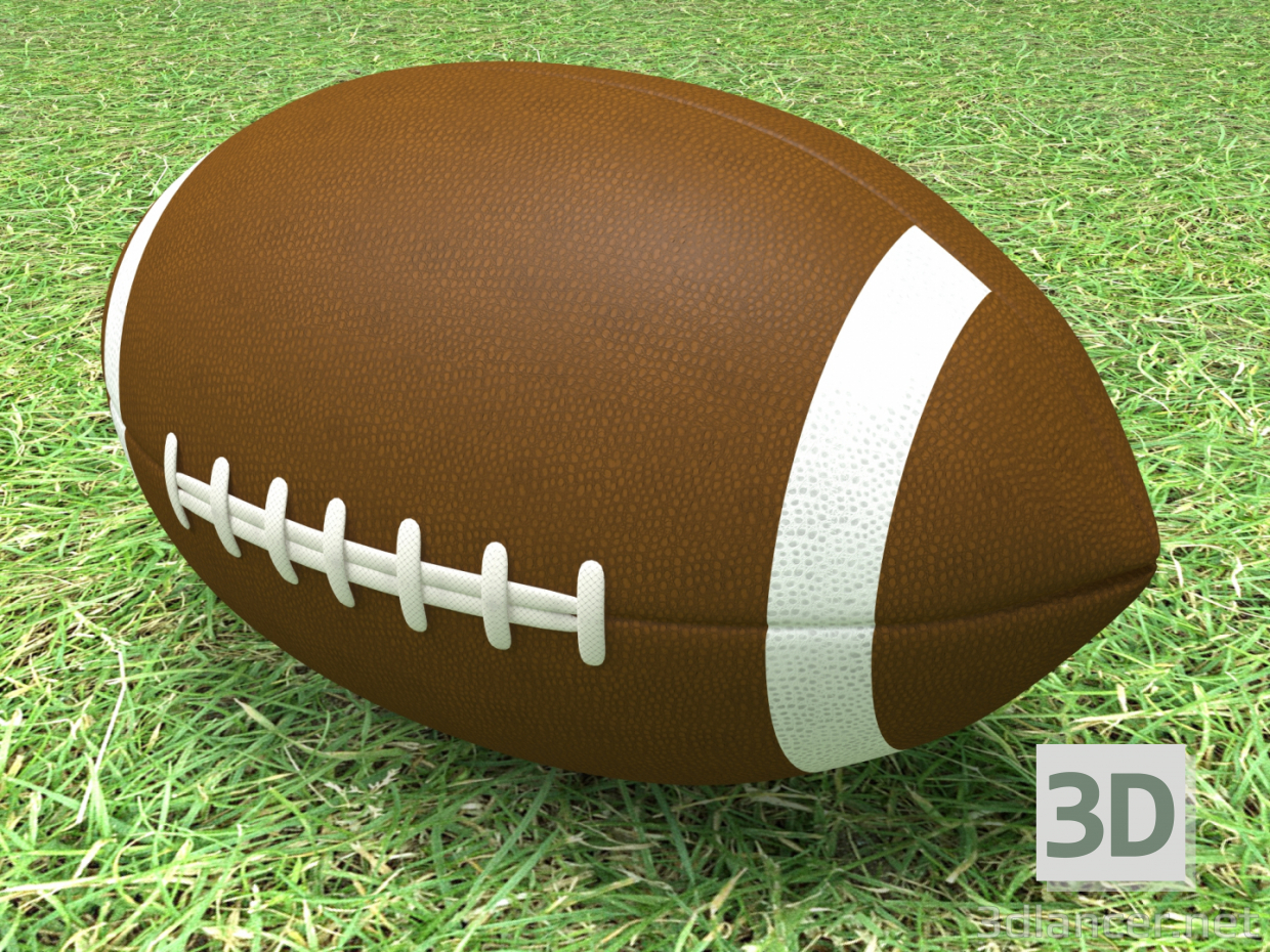 3d Rugby ball model buy - render