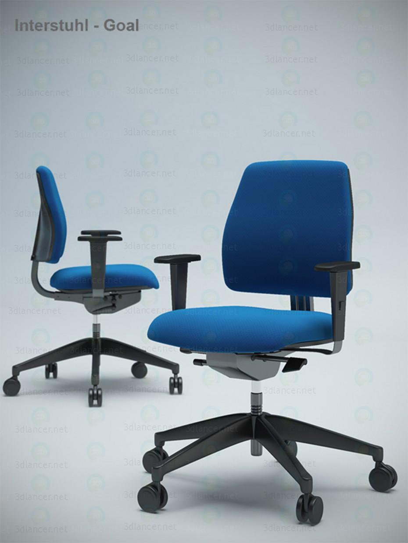 3d модель стул компьютерный – превью