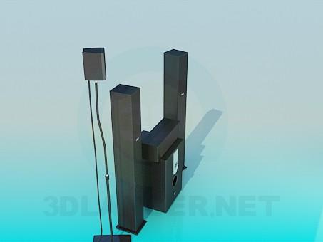 descarga gratuita de 3D modelado modelo Sistema de audio
