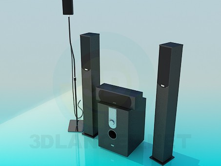 3d model Audio System - preview
