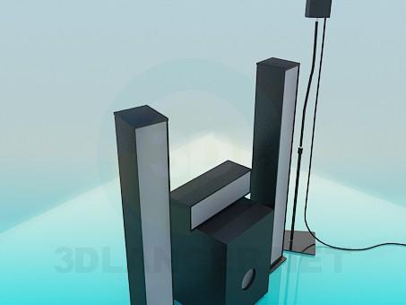 3d модель Аудио система – превью