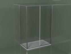 Box doccia scorrevole ZQ + ZF 140 per piatto doccia angolare rettangolare