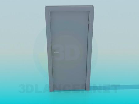 3d model Door with handle - preview