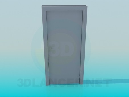 modelo 3D Puerta con manija - escuchar