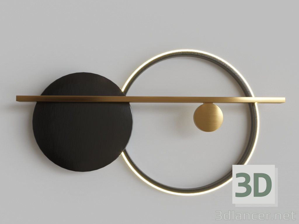 3d model Round Black 44.4680 - preview