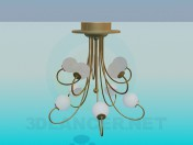 Chandelier with round plafonds