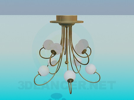 3d modeling Chandelier with round plafonds model free download