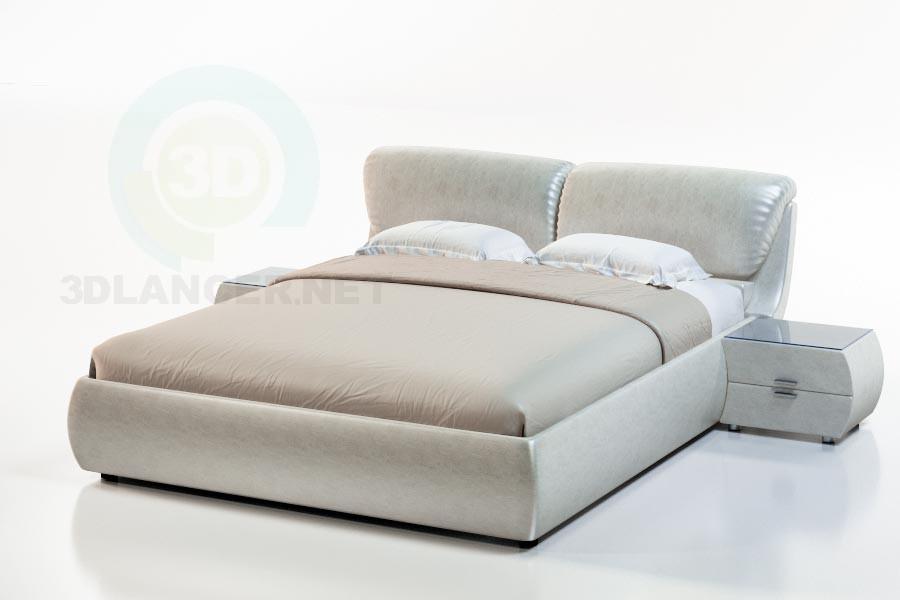3d модель Кровать Бали – превью