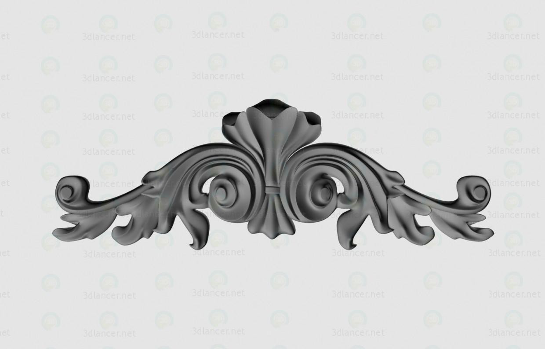 modelo 3D Estuco decorativo - escuchar
