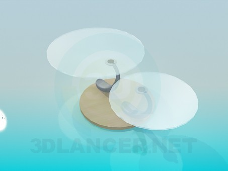 3d model Table with two round tops - preview